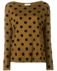 Forte Forte - Brown Polka Dot Long Sleeve T-shirt - Lyst