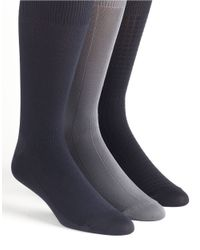Calvin Klein | Gray Microfiber Socks 3-pack for Men | Lyst