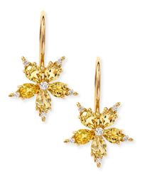 Paul Morelli - Small Stellanise Yellow Beryl & Diamond Drop Earrings - Lyst
