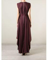 Maison Rabih Kayrouz | Purple Draped Sleeveless Gown | Lyst