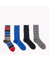 Tommy Hilfiger | Blue 4-pack Socks for Men | Lyst