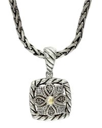 Lord & Taylor - Metallic Balissima Sterling Silver And 18k Yellow Gold Diamond Pendant Necklace - Lyst