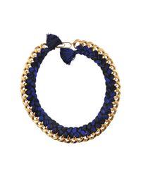 Aurelie Bidermann | Blue Do Brasil Braided Necklace | Lyst