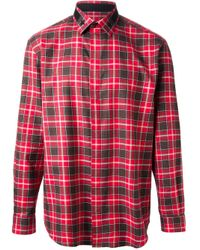 Givenchy - Red Classic Plaid Shirt for Men - Lyst