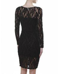 Ganni - Black Pin-Up Lace Dress - Lyst