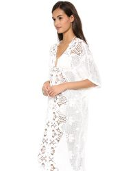 Miguelina White Kate Lace Cover Up