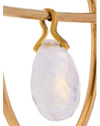 Marie-hélène De Taillac - Metallic Rainbow Moonstone & Yellow-Gold Pure Hoop Earrings - Lyst