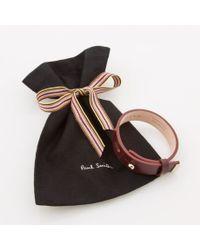 Paul Smith Brown Women's Damson Leather Bracelet