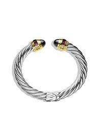 David Yurman - Metallic Renaissance Bracelet With Hematine, Rhodolite Garnet, And 14k Gold, 8.5mm - Lyst