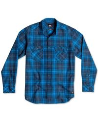 Quiksilver | Blue Everyday Plaid Flannel Shirt for Men | Lyst