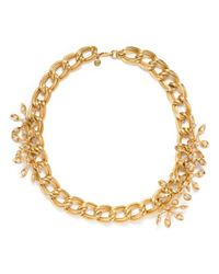 Tory Burch - Metallic Idelle Flower Necklace - Lyst