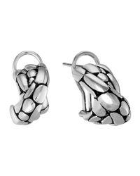 John Hardy | Metallic Kali Silver Overlap Earrings | Lyst