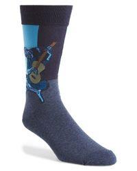 Hot Sox - Blue 'artist Series - Old Guitarist' Socks for Men - Lyst