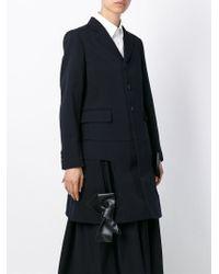 Comme des Garçons - Blue Cut-Out Wool Jacket - Lyst