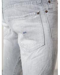 DSquared² Gray Slim Jeans for men