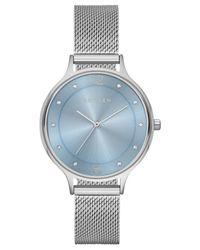 Skagen - Metallic Women's Anita Stainless Steel Mesh Bracelet Watch 30mm Skw2319 - Lyst