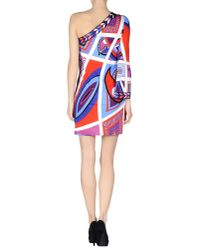 Emilio Pucci - Red Short Dress - Lyst