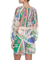 Emilio Pucci - Multicolor Lance Printed Crinkled Romper Coverup - Lyst