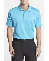 Cutter & Buck | Blue 'warrick' Mercerized Egyptian Cotton Polo for Men | Lyst