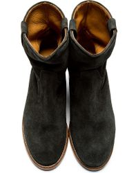 Isabel Marant - Black Suede Crisi Boots - Lyst
