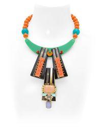 Katerina Psoma | Multicolor Multi-media Necklace | Lyst