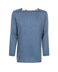 Paul Smith | Men's Blue Rope-stripe Cotton Overshirt for Men | Lyst