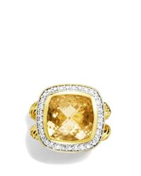 David Yurman | Metallic Albion Ring With Champagne Citrine & Diamonds In Gold | Lyst