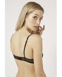 TOPSHOP - Black Lace Underwire Bra - Lyst