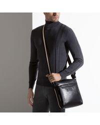 Bally Tuston Small Men's Leather Messenger Bag In Black for men
