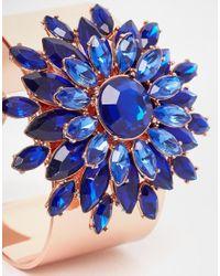 Ted Baker Blue Statement Jewel Flower Cuff