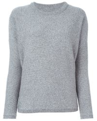 VINCE | Gray Crew Neck Sweater | Lyst