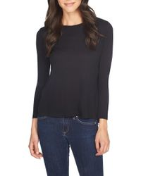 1.STATE | Black Twist Back Knit Tee | Lyst