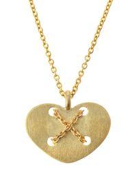 Roberto Coin Metallic Delicate Heartbutton Pendant Necklace