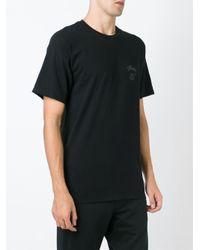 Stussy - Black Logo Print T-shirt for Men - Lyst