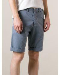 Edwin Blue 'French Twill' Rail Bermuda Shorts for men