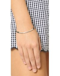 Dogeared Metallic Balance Tube Bracelet