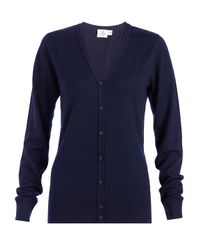 Sunspel | Blue Women's Fine Merino V-neck Cardigan | Lyst
