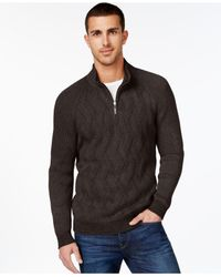 Tommy Bahama | Brown Napa Ridge Quarter-zip Cable Sweater for Men | Lyst