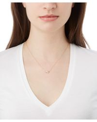Kismet by Milka | Metallic Gold White Diamond Necklace | Lyst