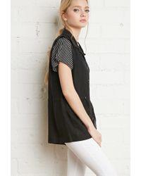Forever 21 | Black Linen Utility Vest | Lyst