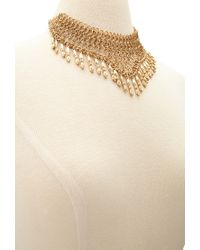 Forever 21 - Metallic Linked Chain Statement Necklace - Lyst