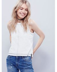 Free People | White We The Free Hasta Manana Tank | Lyst