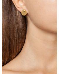 Marie-hélène De Taillac | Metallic Diamond Disc Stud Earrings | Lyst