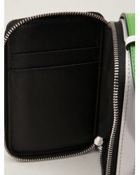 Reed Krakoff Green Double Zip Crossbody Bag