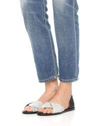 Vince - Black Idara Flat Sandals - Lyst