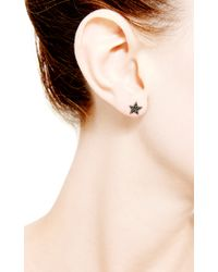 Dana Rebecca - Julianne Himiko Star Earrings in Black Diamond - Lyst