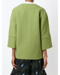 Marni | Green Three-Quarter-Sleeved Wool Jacket | Lyst