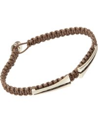 Catherine Zadeh | Brown Parachute Chord Bracelet for Men | Lyst