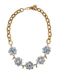Lulu Frost | Metallic Lana Crystal Flower Necklace | Lyst