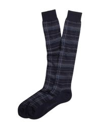 Brooks Brothers - Blue Thin Plaid Over-The-Calf Socks for Men - Lyst